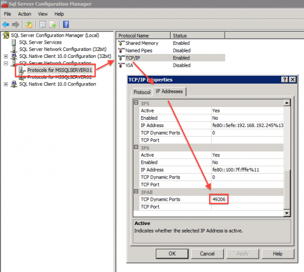 how to know sql server port