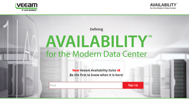 Veeam Availability Suite v8 – Be the first to know when it's there!