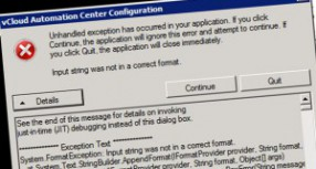vCAC 6.1 gotcha: IaaS installation fails with password >8 characters