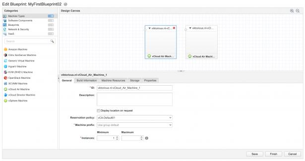 vRealize Automation: Blueprint limitations with vCloud Air VMs