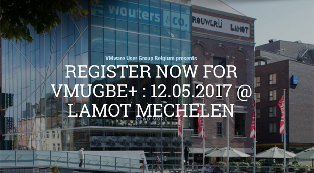 May 12th 2017: Annual VMUG Belgium event