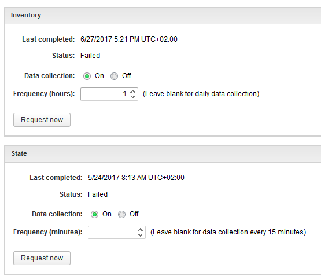 vRA 7.3: Certificate not trusted & data collection failed